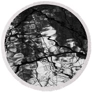 Round Beach Towel featuring the photograph Reflection by Yulia Kazansky