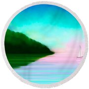 Reflections Round Beach Towel by Anita Lewis