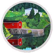 Reflections Round Beach Towel by Barbara Griffin
