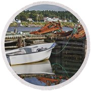 Reflections Round Beach Towel by Eunice Gibb