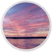 Reflections In Pink Round Beach Towel