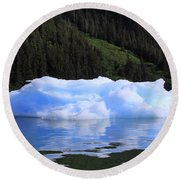 Reflections In The Sea Round Beach Towel by Shoal Hollingsworth