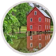 Reflections Of A Retired Grist Mill - Square Round Beach Towel