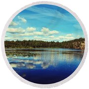 Reflections Of Nature Round Beach Towel