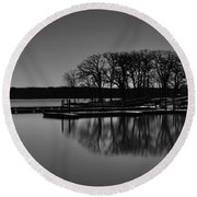 Reflections Of Water Round Beach Towel