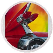 Round Beach Towel featuring the painting Reflections Of Yesterday by Alan Johnson