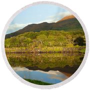 Reflections On Loch Etive Round Beach Towel