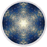 Reflective Ice I Round Beach Towel