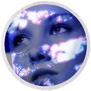 Reflective Round Beach Towel by Richard Thomas