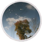 Round Beach Towel featuring the photograph Reflective Thoughts  by Neal Eslinger