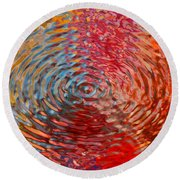 Refraction Abstraction Round Beach Towel