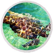 Round Beach Towel featuring the photograph Refractions - Nature's Abstract by David Lawson