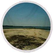 Round Beach Towel featuring the photograph Rehoboth Bay Beach by Amazing Photographs AKA Christian Wilson