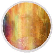 Reigning Light - Abstract Art Round Beach Towel