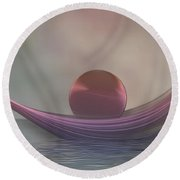 Round Beach Towel featuring the digital art Relax by Gabiw Art