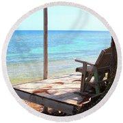 Relax Porch Round Beach Towel