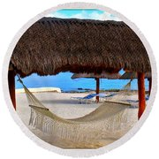 Relaxation Defined Round Beach Towel by Patti Whitten