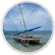 Relaxing After Sail Trip Round Beach Towel by Jola Martysz