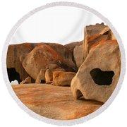 Remarkable Rocks Round Beach Towel