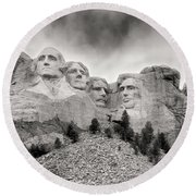 Remarkable Rushmore Round Beach Towel by Erika Weber