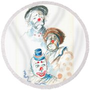Remember The Clowns Round Beach Towel