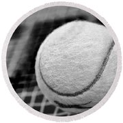 Remember The White Tennis Ball Round Beach Towel