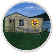 Remember When - Pepsi Round Beach Towel by Barbara Griffin