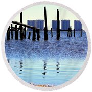 Round Beach Towel featuring the photograph Reminders by Faith Williams