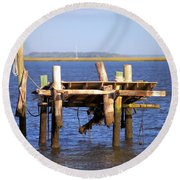 Round Beach Towel featuring the photograph Remnants by Gordon Elwell
