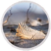 Remnants Of Icarus Round Beach Towel by Bill Pevlor