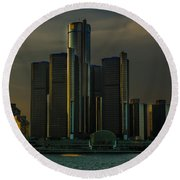 Renaissance Center Round Beach Towel