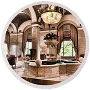 Round Beach Towel featuring the photograph Renaissance Cleveland Hotel - 1 by Mark Madere