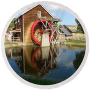 Round Beach Towel featuring the photograph Renfro Valley  Mill by Mary Carol Story