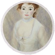 Renoir's Lady Round Beach Towel