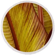 Repose - Leaf Round Beach Towel