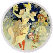 Reproduction Of La Danse, 1891 Round Beach Towel