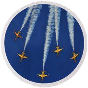 Round Beach Towel featuring the photograph Republic Of Korea Air Force Black Eagles by Science Source