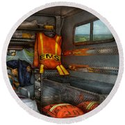 Rescue - Emergency Squad  Round Beach Towel
