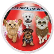 Rescues Rock The Runway Round Beach Towel