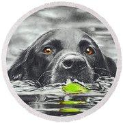 Reservoir Dog Round Beach Towel
