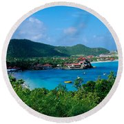 Resort Setting, Saint Barth, West Round Beach Towel
