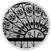 Rest In Peace Round Beach Towel
