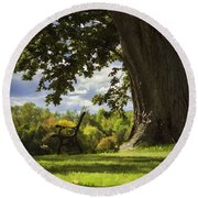 Resting Place For Mind And Body Round Beach Towel