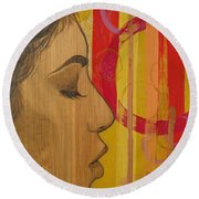 Restless In Wonderment 3 Round Beach Towel