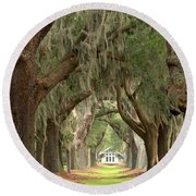 Retreat Avenue Of The Oaks Round Beach Towel