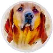 Retriever Round Beach Towel