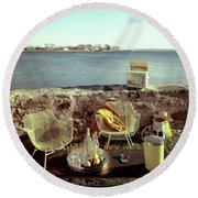 Retro Outdoor Furniture Round Beach Towel