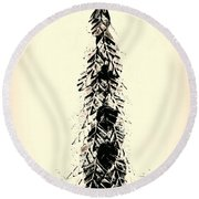 Retro Xmas Round Beach Towel