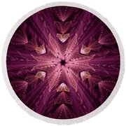 Round Beach Towel featuring the digital art Returning Home by GJ Blackman