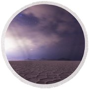 Silent Reverie Round Beach Towel
